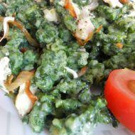 Špenátové halušky recept