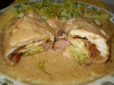 Dušené kuřecí závitky na gyrosu a zázvoru recept