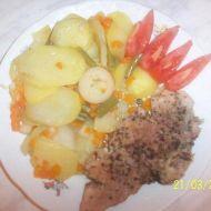 Vepřové maso na česneku v parním hrnci recept