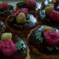 Mandlové kytičky s marcipánem recept
