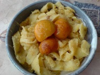 Recept Zapečené nudle s meruňkami