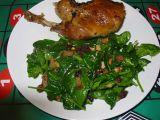 Špenát listový recept