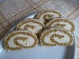 Ořechová roláda s kávovým krémem recept