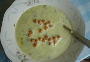 Pórková malovaná polévka
