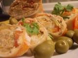 Pikantní, ostřejší, olivovo  sýrová chuťovka recept