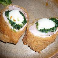Plněný řízek špenátem a mozzarellou recept