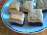 Tříbarevný koláč z dvojího těsta recept
