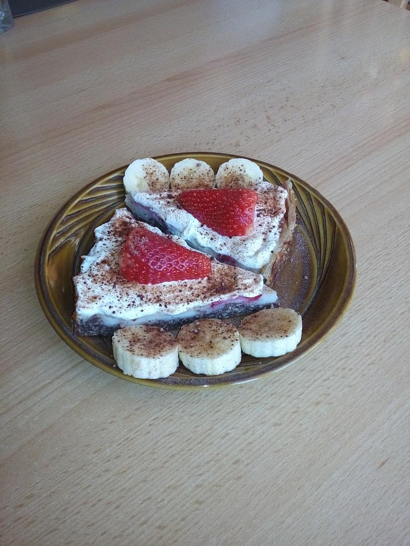 Pudinkový koláč zdravě recept