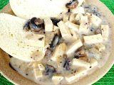 Tofu v žampionové omáčce recept