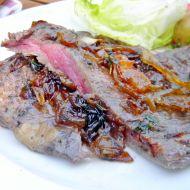 Pepřový flank steak na grilu recept
