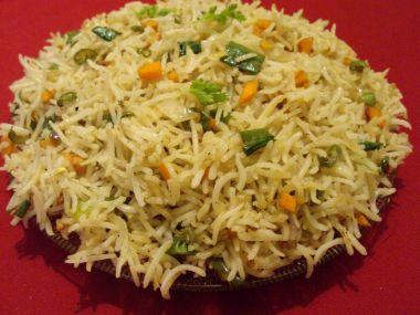 Zeleninová rýže po indicku