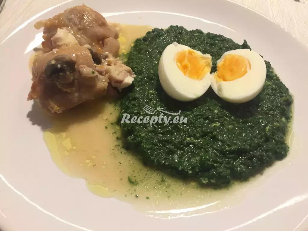 Králík s dušeným špenátem recept  králičí maso