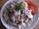Žampionový salát s kuřecím masem recept