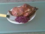 Nadívaná kachna s divokým zelím recept