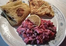 Vinigret po mém (salát z červené řepy) + lokše recept