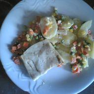 Zapečené rybí filé s brambory recept