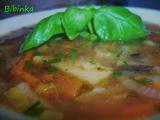 Bazalková houbovka zahuštěná kuskusem recept