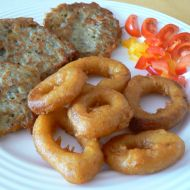 Kalamáry s rybími bramboráčky recept