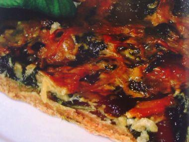 Špenátová pizza se smetanovým základem