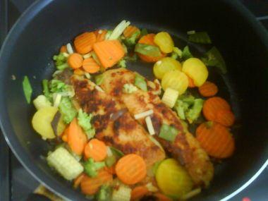 Pangasius na zelenině