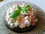 Salát z cottage, okurky a rajčat recept