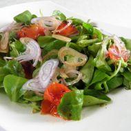 Salát polníček s pečenými rajčaty recept