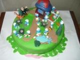 Šmoulí dort pro Karolínku (můj vlastní výtvor) recept