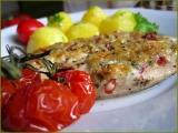 Kuřecí plátky s tatarkovo-sýrovou čepičkou recept