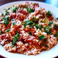 Vepřové plecko míchané s rýží recept