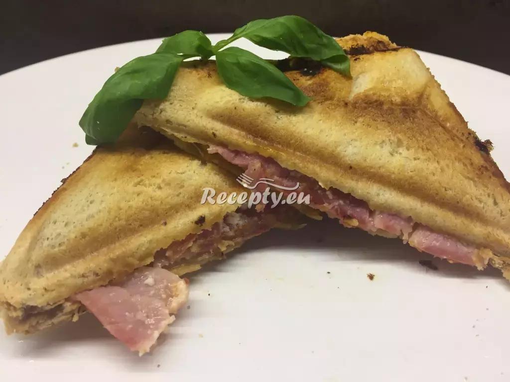 Toast s anglickou slaninou recept  topinky, toasty, sendviče ...