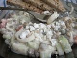 Čočkový salát s balkánským sýrem recept
