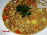 Polévečka s čočkou jako řemen recept