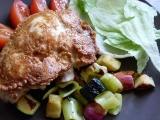 Voňavá kuřecí prsa v těstíčku na zeleninovém hnízdě recept ...