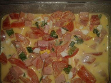 Rajčatový salát s uzeninou