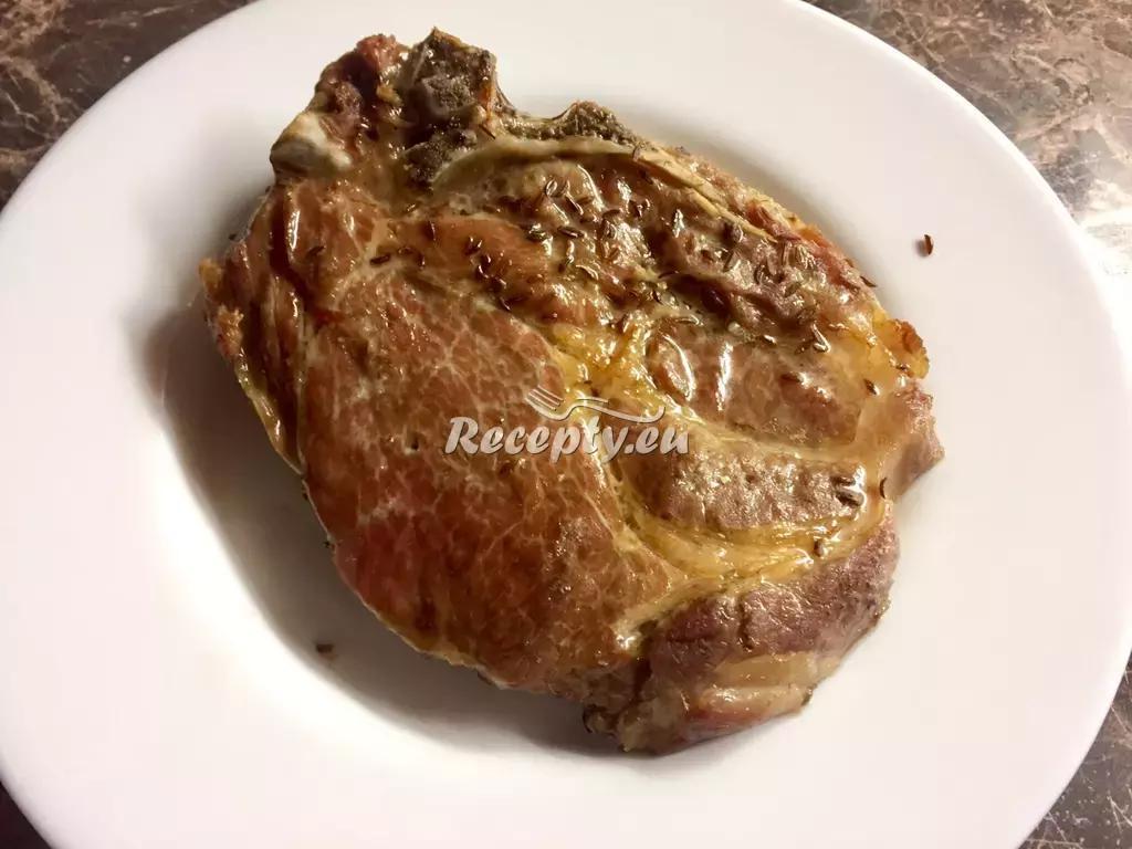 Krkovička s cibulí, česnekem a kečupem recept  vepřové maso ...