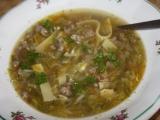 Polévka z mletého masa s kapustou recept