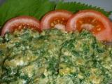 Míchaná vajíčka s kopřivami recept