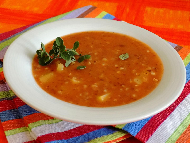 Česneková polévka s pohankou recept