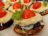 Bramboráčky s grilovaným lilkem a sýrem recept