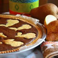 Hruškový koláč s čokoládou recept