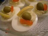 Plněná vejce s krabem a sýrem recept