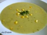 Bramborová krémová polévka s kukuřicí recept