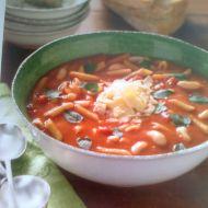 Polévka s těstovinami a fazolemi recept