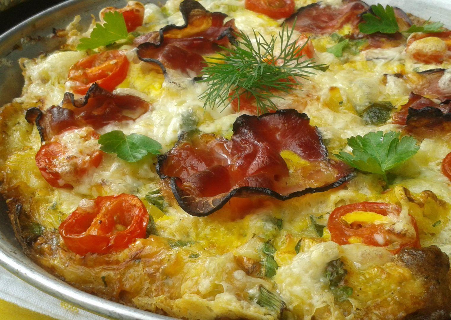 Těstovinová frittata recept