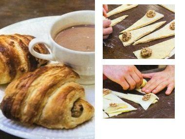 Domácí croissanty s náplněmi
