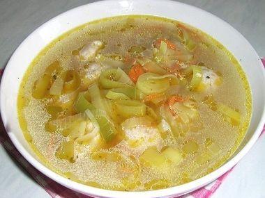 Pórková polévka s droždím  dia 7 S