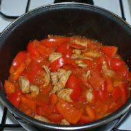 Rajčatovo-papriková omáčka s vepřovým recept