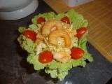 Salát s uzenými krevetami recept