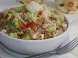 Květákový salát s masem a sójovým granulátem recept ...