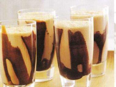 Mléčný koktejl z dvojí čokolády